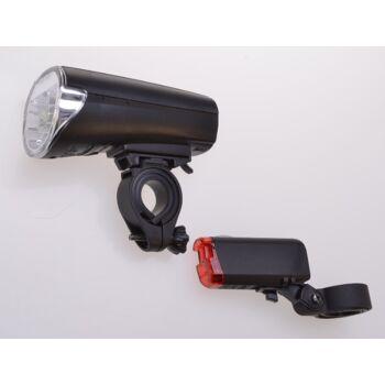 12-40207, Fahrrad Beleuchtungsset, Vorder + Rücklicht, Zugelassen nach StVZO