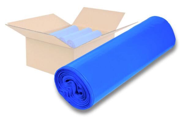 Müllsäcke 120 Liter blau 700 x 1100 mm 10 Rll. á 25 Stk Typ 60 (28 my) Abfallsäcke Entsorgungssäcke Mülltüten Müllsack Abfallsack