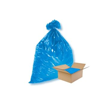 Müllsäcke 120 Liter blau 700 x 1100 mm 100 Stk lose Echte 100 my Abfallsäcke Entsorgungssäcke Mülltüten Müllsack Abfallsack