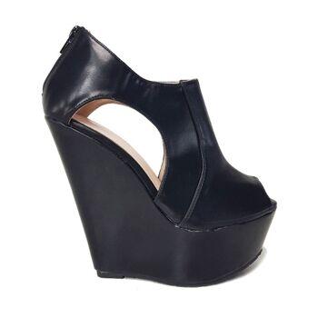 Schwarze Moda Alice Peeptoe Schuhe für Frauen