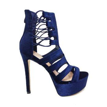 Blaue Moda Alice High Heels Sandalen - Damenschuhe