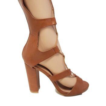 Brown Moda Alice Gladiator Sandalen - Damenschuhe