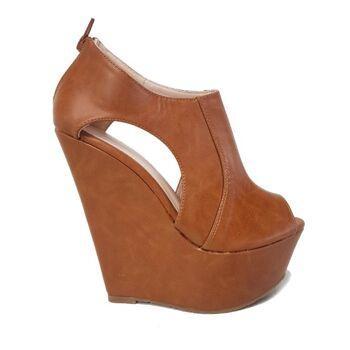 Brown Moda Alice Peeptoe Schuhe für Frauen