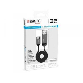USB FlashDrive 32GB EMTEC T750 USB3.1 micro-USB Dual