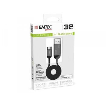 USB FlashDrive 32GB EMTEC T750 USB3.1 Type-C Dual