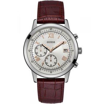 Guess Uhr Uhren Herrenuhr Chronograph W1000G2 Summit Leder