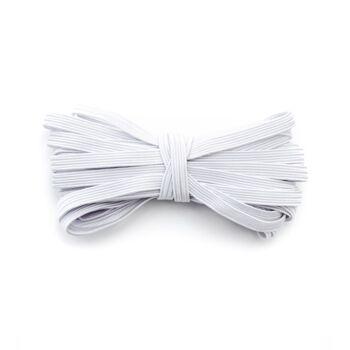 Gummiband - elastische Flache kochfeste Gummilitze zum Nähen, Basteln von DIY Community-Masken, Behelfsmasken, Mund-Nasenbedeckungen