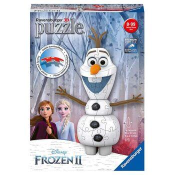 Ravensburger 11157 - Disney Frozen 2 / Die Eiskönigin 2 - 54 Teile 3D Puzzle - Olaf