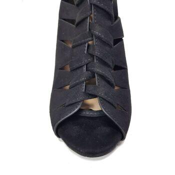 Schwarze Moda Alice Damenschuhe - Sandalen mit Schnürsenkeln