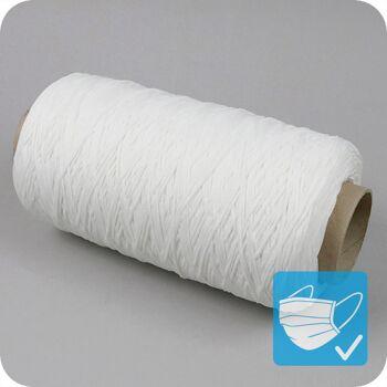 elastische Gummikordel, Ø 3 mm, weiß, extra weich, ultraschall schweißbar, Oeko-Tex zertifiziert