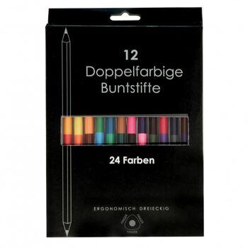 10-900610, Doppelbuntstifte 12er Set, mit 24 verschiedenen Farben