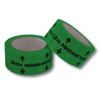 Bodenmarkierungsband [ Bitte mindestens 1,5m Abstand halten ]  Aufkleber Bodenband Klebeband Warnband Warnklebeband