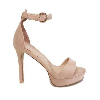 Damenschuhe - Beige Moda Alice High Heels Sandalen