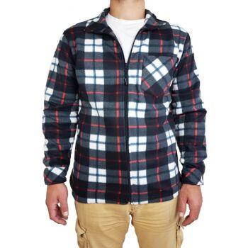 Schwarze Outdoor-Jacken mit zehn Grad Polarfleece für Männer - Arbeitskleidung