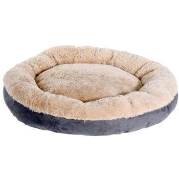 28-443879, Tierkissen mit Kunstfell, Durchmesser: 55 cm, Hundekissen, Katzenkissen