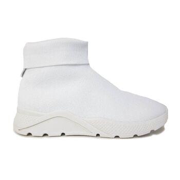 Weiße Schuhe für Frauen - hohes Modell