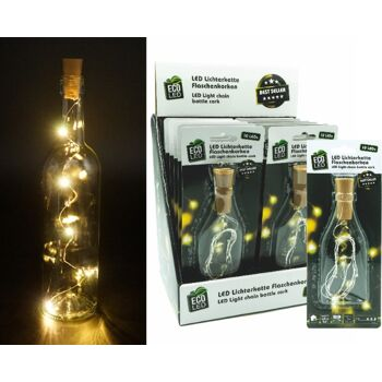 12-10012, Lichterkette Flaschenkorken, weiß  mit 10 LEDs
