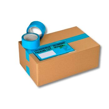 Packband - Paketband - Kartonband [ 50 mm / 66 m ] [ TÜRKIS ] [ LEISE ABROLLBAR ] [POLYPROPYLEN ] [ STARK KLEBEND ]