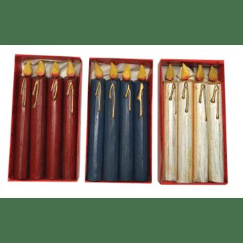 Holz Kerzen im 4rer-Set, Basteln, Floristen, Deko