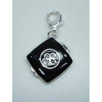 Guess Charm Charms Anhänger schwarzes Buch UBC90902
