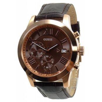Guess Uhr Uhren Herrenuhr Chronograph W0669G1 rosegoldfarben Leder