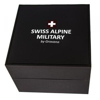 Swiss Alpine Military by Grovana Herrenuhr 7040.1142 Edelstahl bicolor