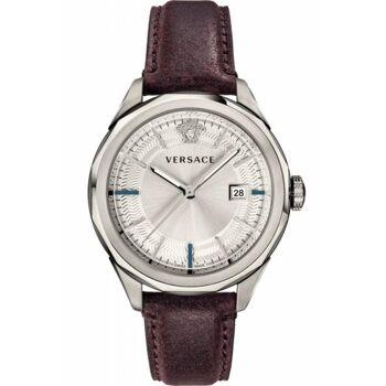 Versace Uhr Uhren Damenuhr VERA00118 GLAZE Leder