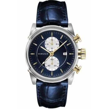 Versace Uhr Uhren Herrenuhr Chronograph VEV400219 CHRONO URBAN Leder