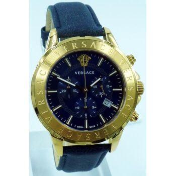 Versace Uhr Uhren Herrenuhr Chronograph VEV600319 CHRONO SIGNAT Leder