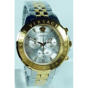 Versace Uhr Uhren Herrenuhr Chronograph VEV600519 CHRONO SIGNAT bicolor