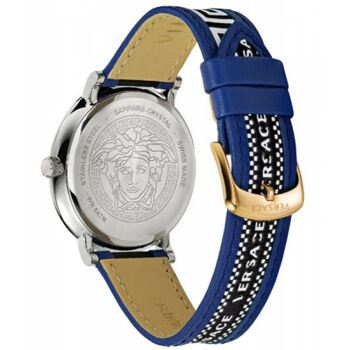 Versace Uhr Uhren Herrenuhr VEBQ01419 V CIRCLE Leder