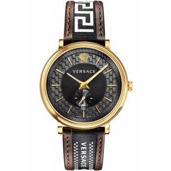 Versace Uhr Uhren Herrenuhr VEBQ01619 V CIRCLE Leder