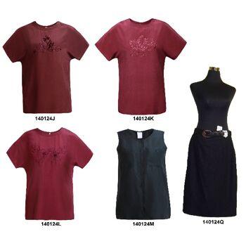 100% Seide, Damen Tops Shirts Rock, mit oder ohne Bestickung, 6295 Stück