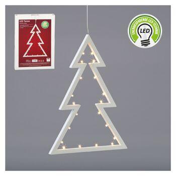 17-28674, LED Tanne 30 cm, zum Hängen, LED Licht, Weihnachtsdeko