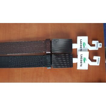 LACOSTE BELT BROWN / BLACK