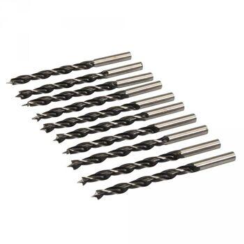 Holzspiralbohrer mit Zentrierspitze, 6mm, 10er Pack