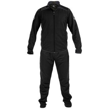 Schwarz / grauer Stanno Forza Poly Anzug Herren Trainingsanzug