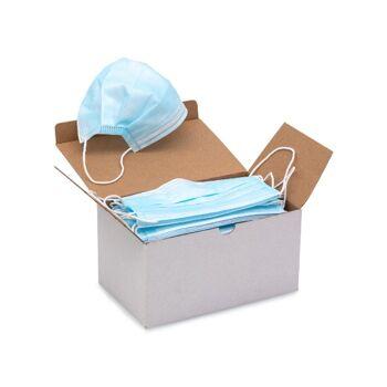 Medizinische Atemschutzmaske / OP Maske, CE-zertifiziert, 3 lagig aus weichem Vlies, höchster Tragekomfort , sofort Lieferbar! FREI HAUS!