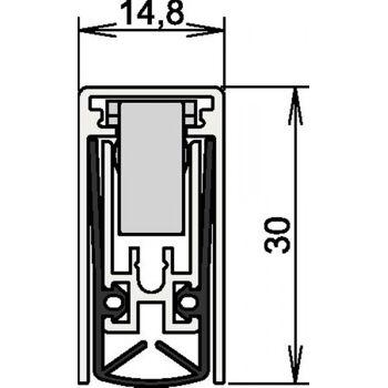 Türdichtung Schall-Ex® L-15/30 WS Nr. 1-880, Auslösung 1-seitig Länge 708mm