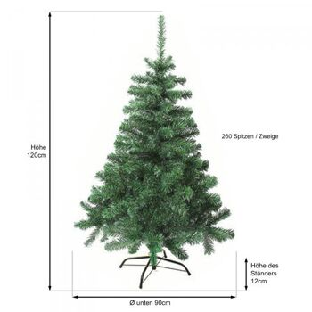 künstlicher Weihnachtsbaum 120 cm hoch 260 Spitzen