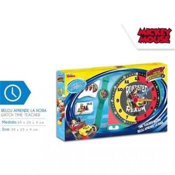 Disney Mickey Mouse  - Uhren - Set zum Erlernen der Uhrzeiten