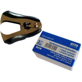 Enthefter / Entklammerer, schwarz, einzeln im Karton verpackt, mit Feststellknopf