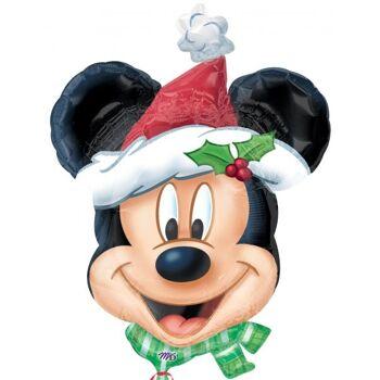 Folienballon Mickey Christmas