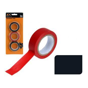 Isolierband 3 Rollen, scharz und rot, FX Tools