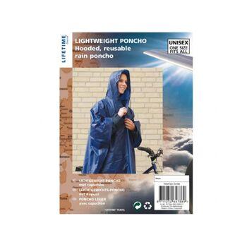 Regenschutz Poncho die etwas bessere Qualität, nicht transparent Polybag mit Fotoeinleger