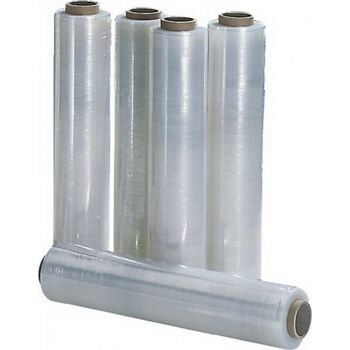 Stretchfolie 20µm B.500mm L.300m transparent, 6 St.