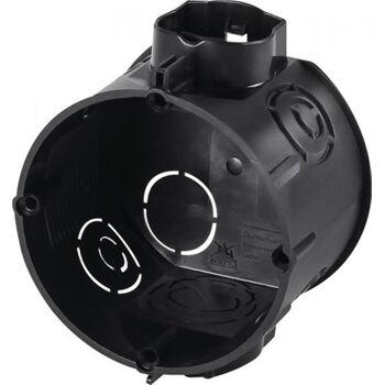 Unterputzschalterdose T.41mm D.60mm IP20 m.4KT-Tunnelstutzen sw 25St.