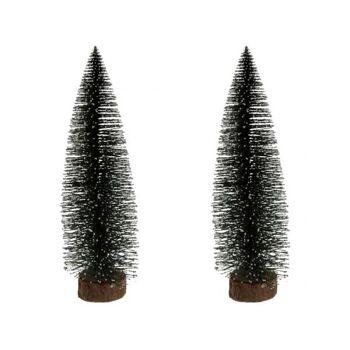 Weihnachtsdekobaum 35 cm hoch, grün, mit Holzständer