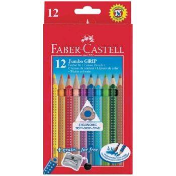 12-110912, Faber Castell Jumbo GRIP Farbstifte 12er Set, Malstifte