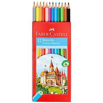 12-120112, Faber Castell Buntstifte 12er Set, Malstifte